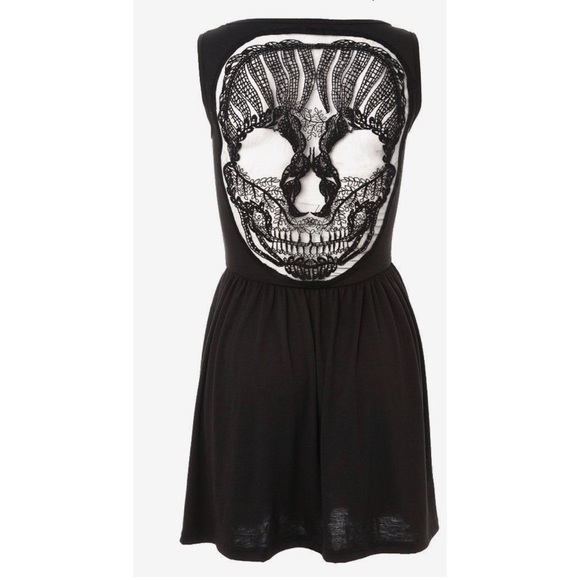 30be8d4b318 Hot Topic Dresses   Skirts - Hot topic black dress with lace skull in the  back